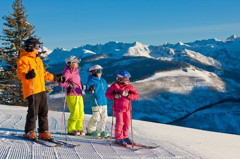 Family Skiing on Vail Mountain